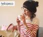女装一件代发 hellopeco正品现货女圆领条纹长袖T恤 ct004