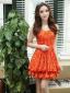 2012春夏新款韩版连衣裙甜美公主收腰蕾丝公主单打底裙送小披肩