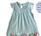 外贸童装/淡蓝色草莓图哈裙(HA1387 1手5件)